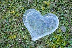 Coeur de glace, concept d'amour Image stock