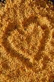 Coeur de graines de sésame Images stock