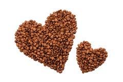 Coeur de grains de café Photo stock