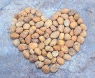 Coeur de gravier de roche Photo libre de droits