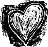 Coeur de gravure sur bois illustration de vecteur