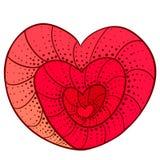 Coeur de griffonnage Photo libre de droits