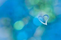 Coeur de grunge de fond d'abrégé sur bleu de turquoise Photos stock