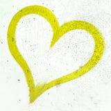 Coeur de grunge de vert de chaux photographie stock libre de droits