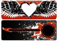 coeur de guitare Photographie stock libre de droits