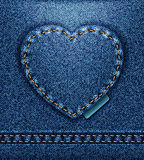 Coeur de jeans   illustration stock