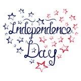 Coeur de Jour de la Déclaration d'Indépendance Photographie stock