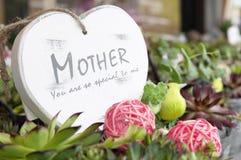 Coeur de jour de mères Photo stock