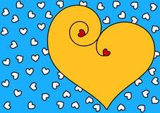 Coeur de jour de valentines Image libre de droits