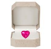 Coeur de jour de Valentines sur le fond blanc Photos libres de droits
