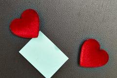 Coeur de jour de valentines et papier de Blue Note Photographie stock libre de droits