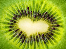 Coeur de kiwi Photo libre de droits