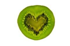 Coeur de kiwi Image stock