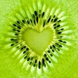 Coeur de kiwi Photographie stock