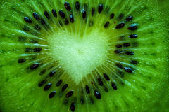 Coeur de kiwi Photos stock