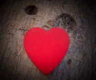 Coeur de l'amour dans la Saint-Valentin sur l'arbre Image stock