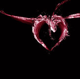 Coeur de l'eau noire et rouge Photos libres de droits