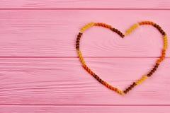 Coeur de l'espace sec de macaronis et de copie Photographie stock libre de droits