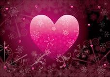 Coeur de l'hiver Images stock