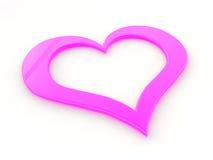 Coeur de la femelle de verre Image stock
