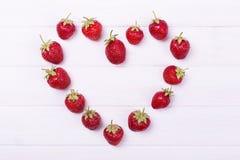 Coeur de la fraise Photo stock