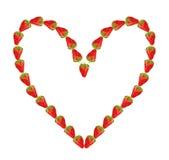Coeur de la fraise Images libres de droits