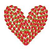 Coeur de la fraise Images stock