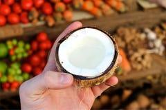 Coeur de la noix de coco Photo stock