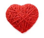 Coeur de laine Photographie stock