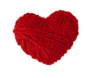 Coeur de laine rouge Photographie stock