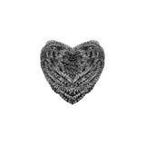 Coeur de laines en acier Photo libre de droits