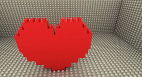 Coeur de Lego Photo stock