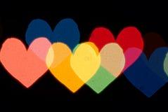 Coeur de lumière Photographie stock libre de droits