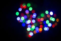 Coeur de lumière Lampes Hors focale Photos libres de droits
