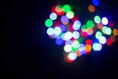 Coeur de lumière Lampes Hors focale Photographie stock libre de droits