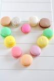 Coeur de Macarons Image libre de droits