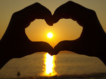 Coeur de main photographie stock