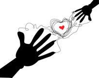 Coeur de main Photographie stock libre de droits