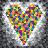Coeur de mosaïque de couleur Photo libre de droits