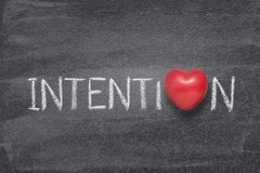 Coeur de mot d'intention photos stock