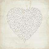 Coeur de musical de vintage Photographie stock