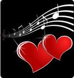 Coeur de musique Photographie stock libre de droits
