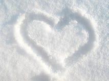 Coeur de neige Photographie stock