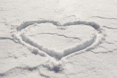 Coeur de neige Photo stock
