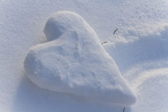 Coeur de neige Photo stock