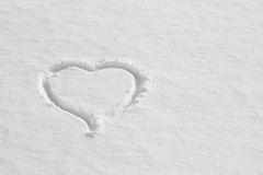Coeur de neige sur la texture peinte de fond Photo stock