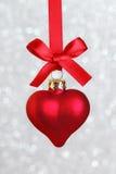 Coeur de Noël Photos libres de droits
