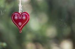 Coeur de Noël Image libre de droits