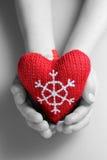 Coeur de Noël Images libres de droits