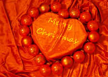 coeur de Noël joyeux images libres de droits